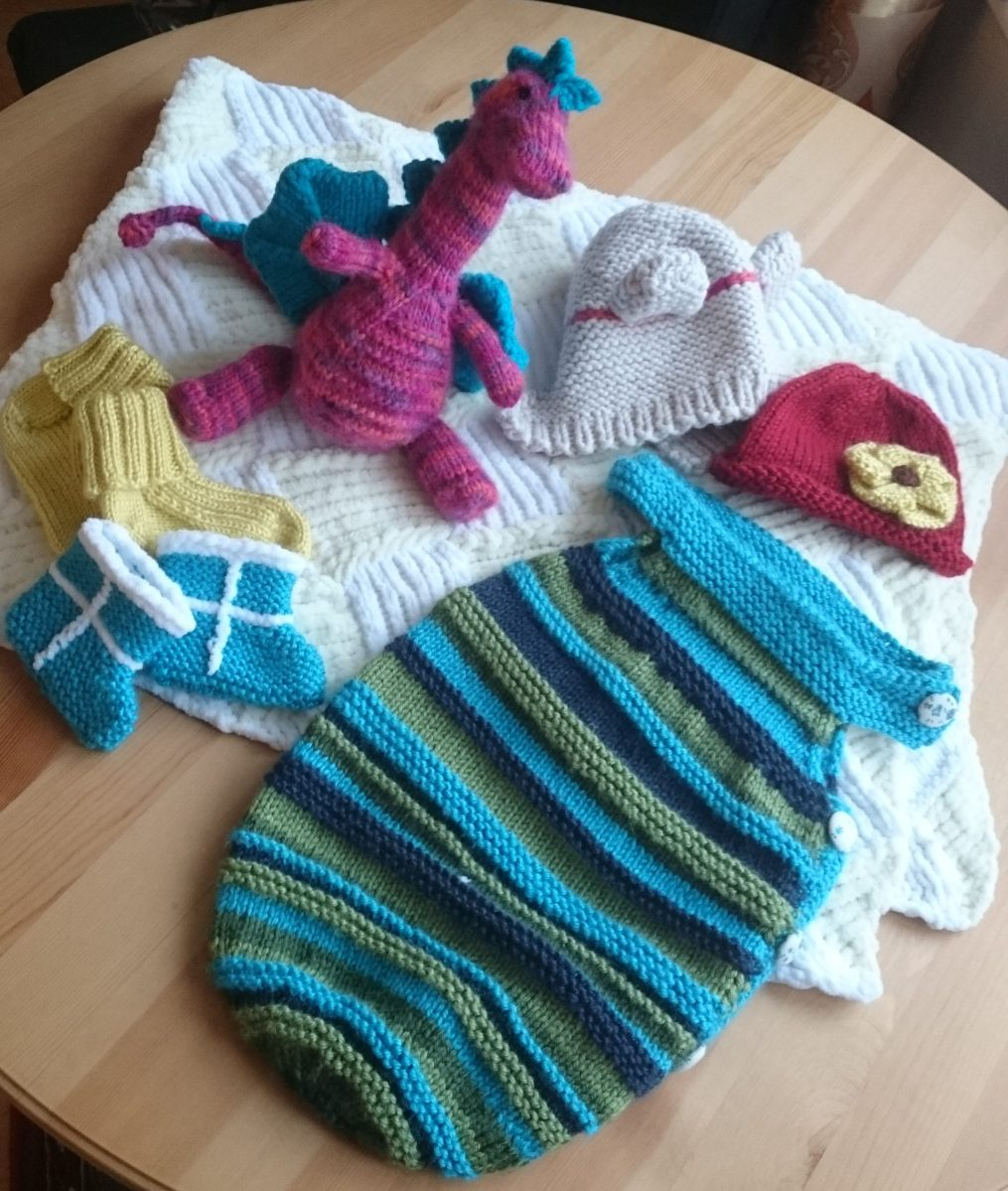 Some prepare for their little one by creating extravagant nurseries. I knit.